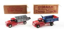 Lot 2394: Lot of 2: Marx Pressed Steel & Tin-Litho Dump Truck Toys.