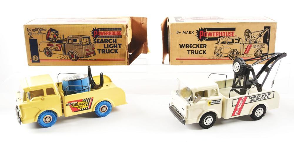 Lot 2393: Lot of 2: Marx Pressed Steel Powerhouse Trucks.