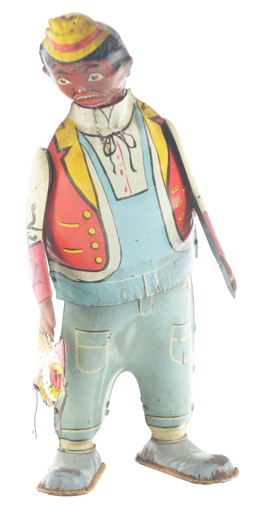 Lot 2417: Marx Tin-Litho Wind-Up Chicken Snatcher Toy.
