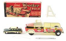 Lot 2427: Marx Lumar Pressed Steel Wrecker & Towing Car.