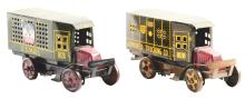 Lot 2431: Lot of 2: Marx Tin-Litho Wind-Up Commercial Truck Toys.