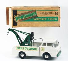 Lot 2449: Lot of 3: American Made Pressed Steel Tow Trucks with Boxes.