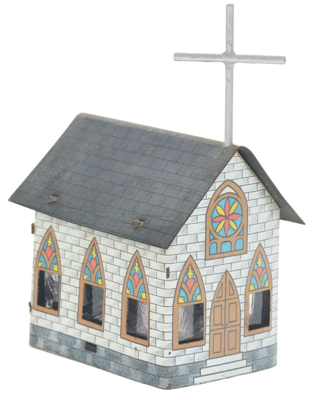 Lot 2457: The Village Church Candy Container.