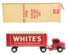 Lot 2454: Scarce Pressed Steel Marx White's Home of Greater Values Box Truck.