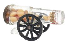 Lot 2458: Two-Wheel Mount Cannon Candy Container.
