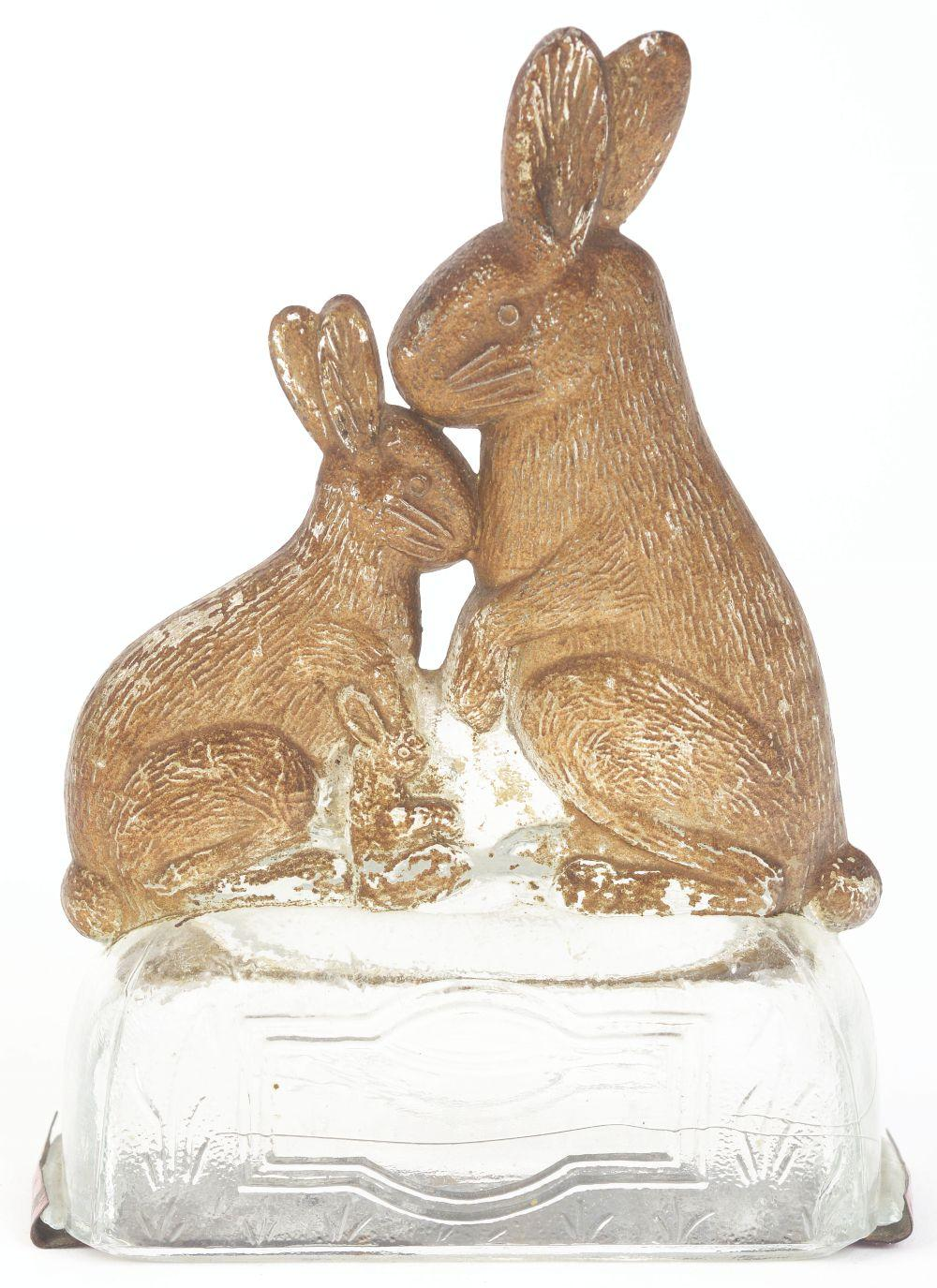 Lot 2461: Rabbit Family Candy Container.