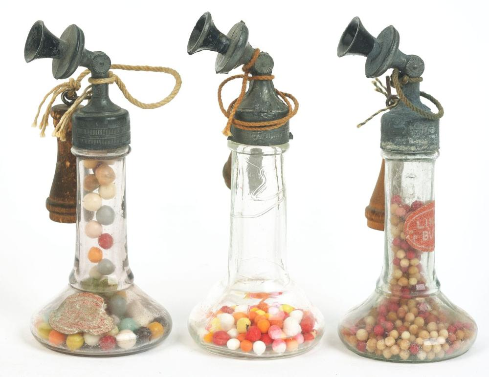 Lot 2484: Lot of 3: Telephone Candy Containers.
