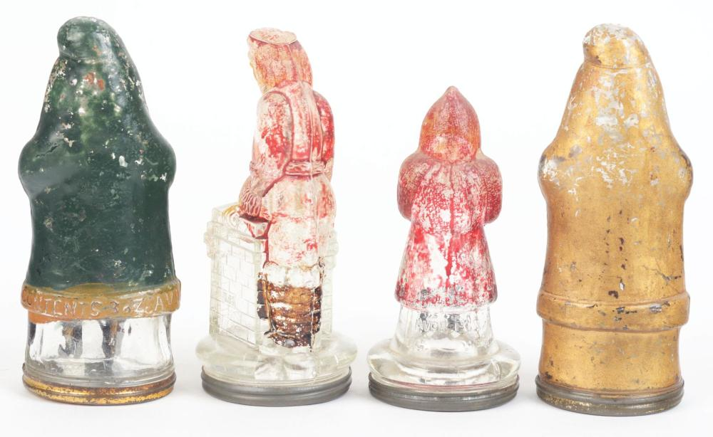 Lot 2491: Lot of 4: Santa Candy Containers.