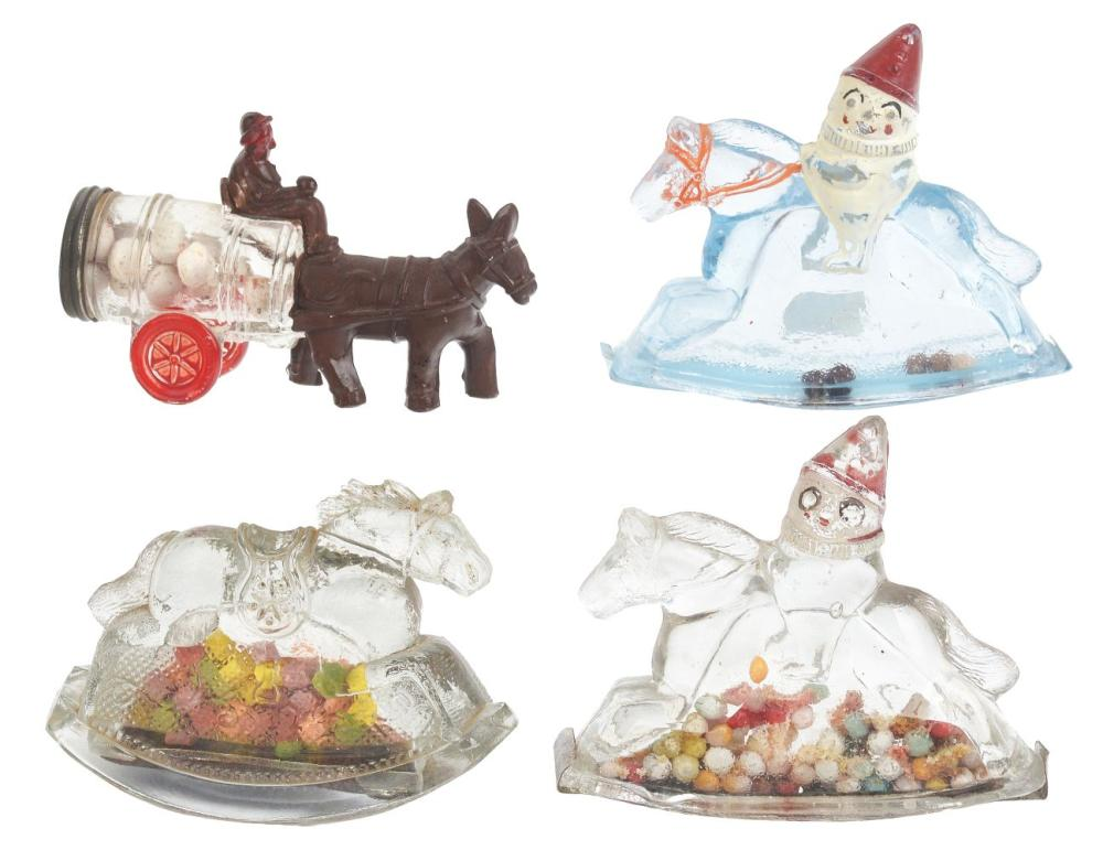 Lot 2488: Lot of 4: Miscellaneous Candy Containers.