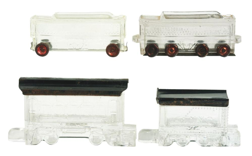Lot 2493: Lot of 4: Train Car Candy Containers.