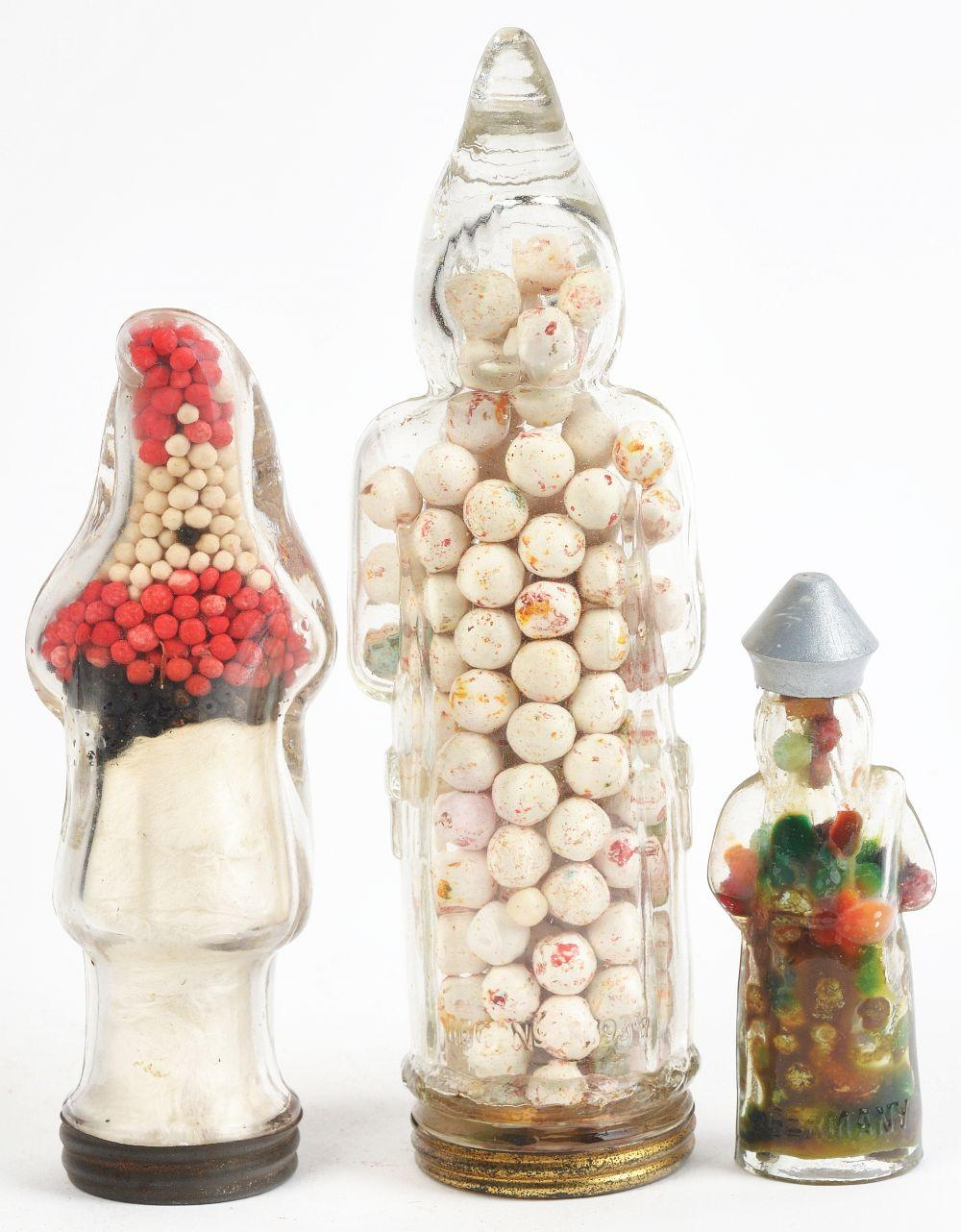 Lot 2494: Lot of 3: Santa Candy Containers.