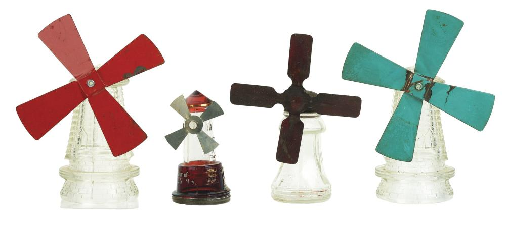 Lot 2492: Lot of 4: Windmill Candy Containers.
