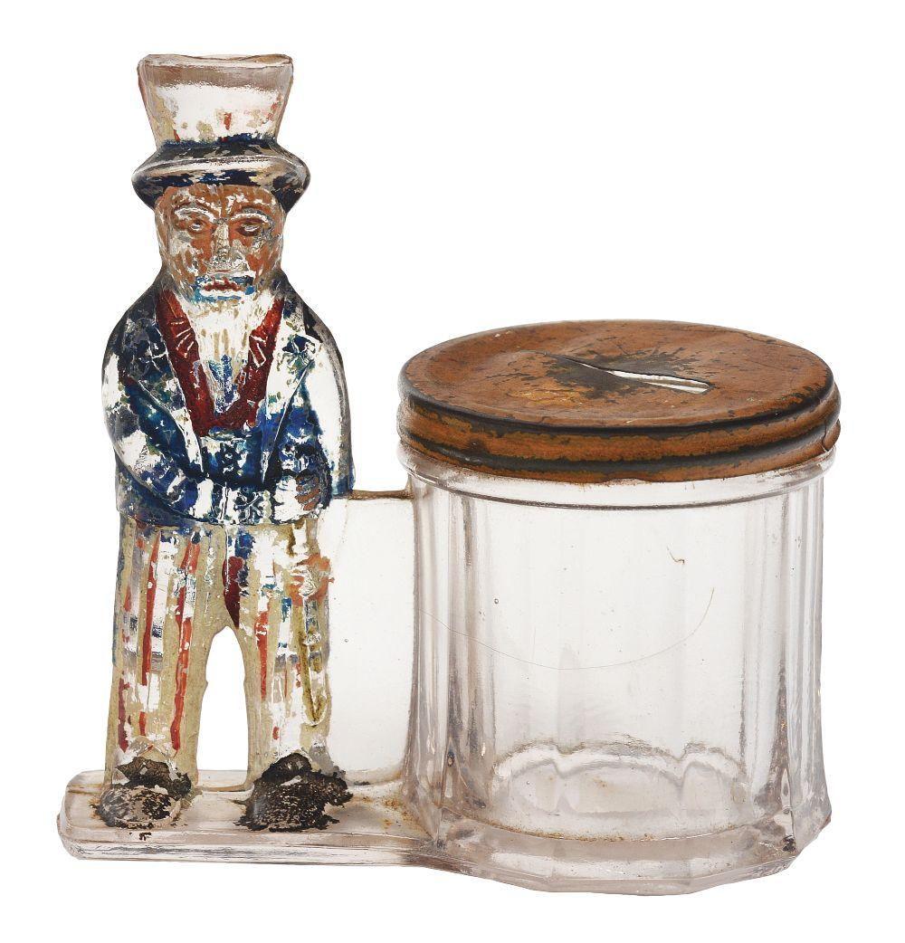 Lot 2509: Uncle Sam by Barrel Candy Container.