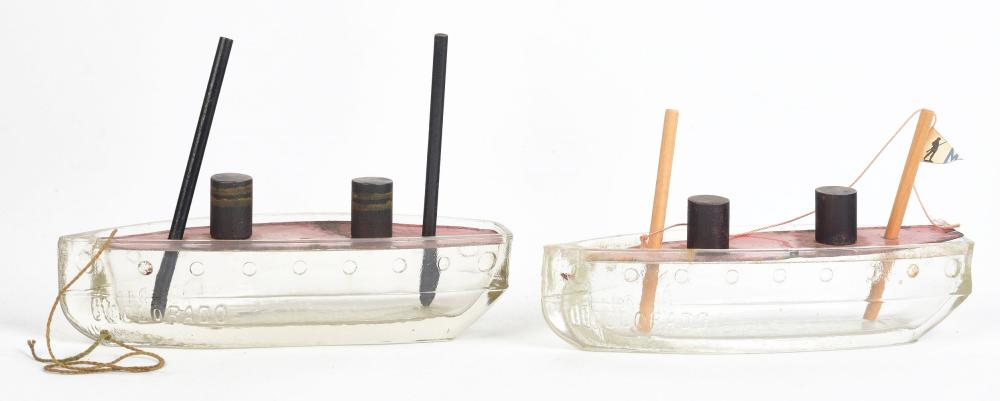 Lot 2523: Lot of 2: Colorado Boat Candy Containers.