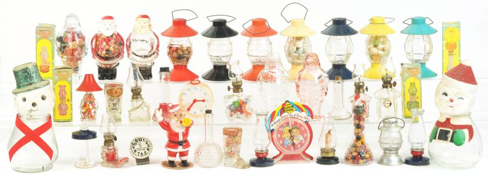 Lot 2519: Lot of 42: Assorted Candy Containers.