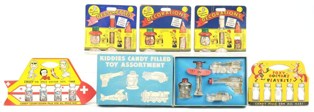 Lot 2516: Lot of 6: Candy Container Sets.