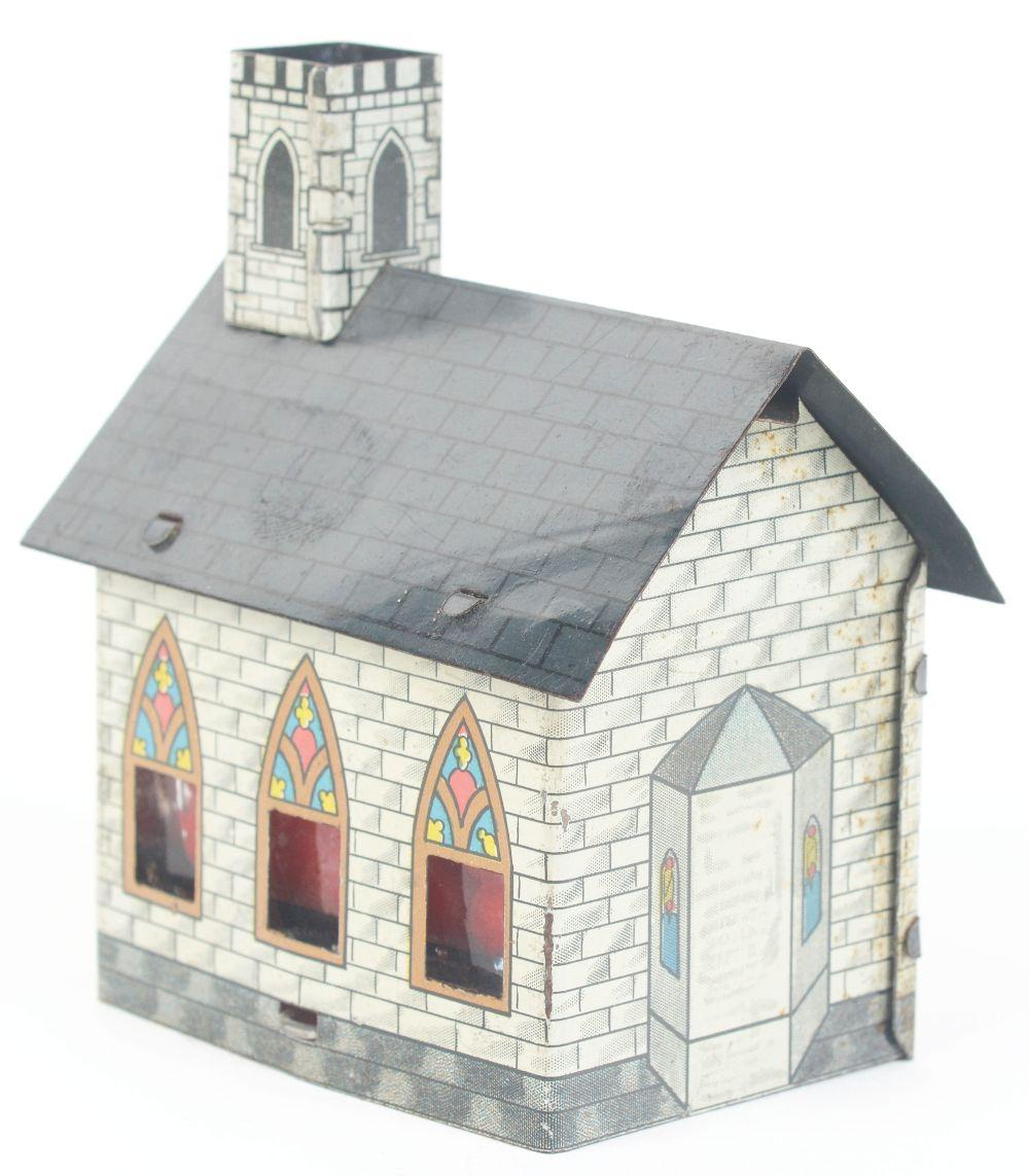 Lot 2508: The Village Church with Steeple Candy Container.