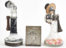 Lot 2537: Lot of 3: Telephone & Mailbox Candy Containers.