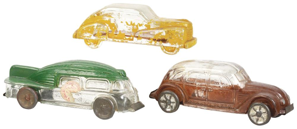 Lot 2532: Lot of 3: Car Candy Containers.