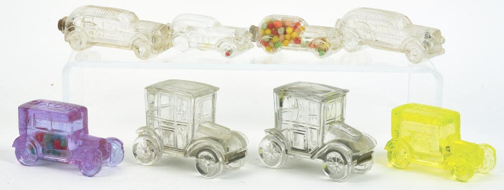 Lot 2533: Lot of 8: Car Candy Containers.