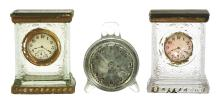 Lot 2542: Lot of 3: Clock Candy Containers.