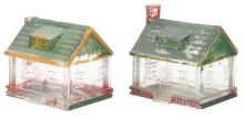 Lot 2544: Lot of 2: House with Chimney Candy Containers.