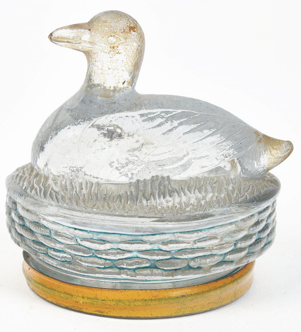 Lot 2545: Duck on Round Base.