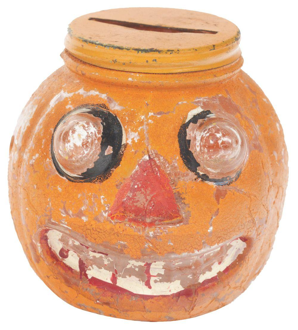 Lot 2568: Pop-Eyed Jack-o-Lantern Candy Container.