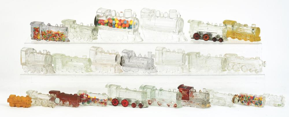 Lot 2561: Lot of 23: Locomotive Candy Containers.
