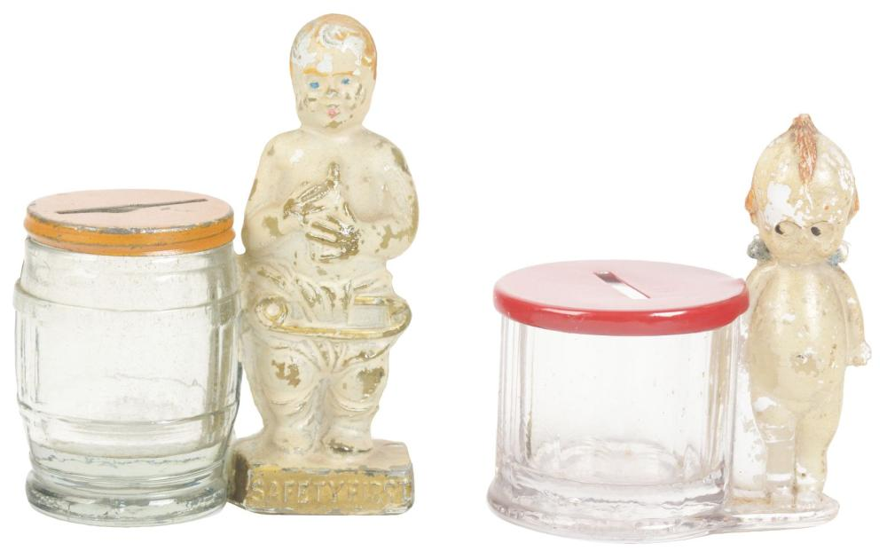 Lot 2570: Lot of 2: Candy Containers.