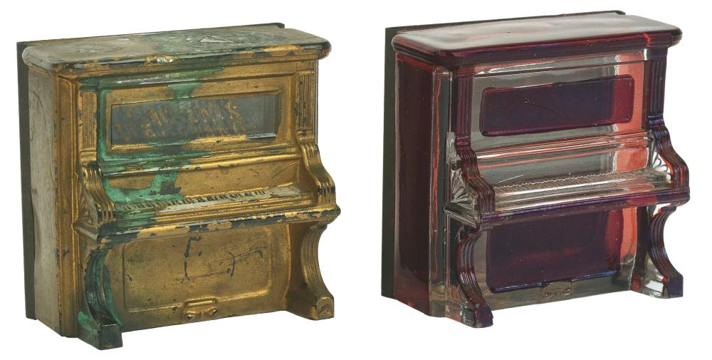 Lot 2559: Lot of 2: Piano Candy Containers.
