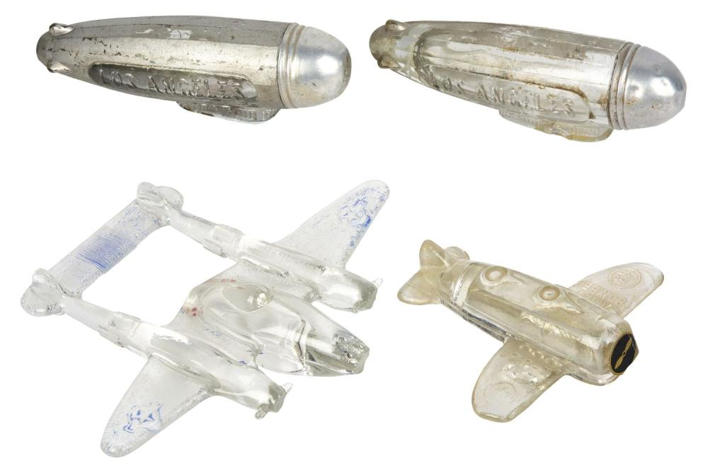 Lot 2574: Lot of 4: Aeronautical Candy Containers.