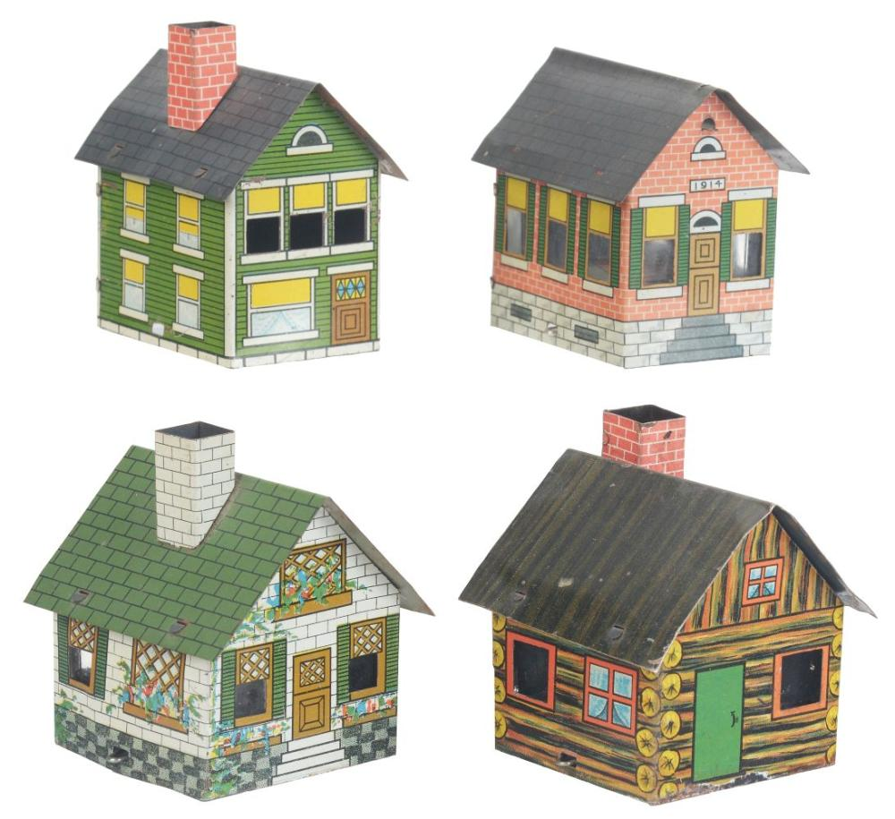 Lot 2573: Lot of 4: House Candy Containers.