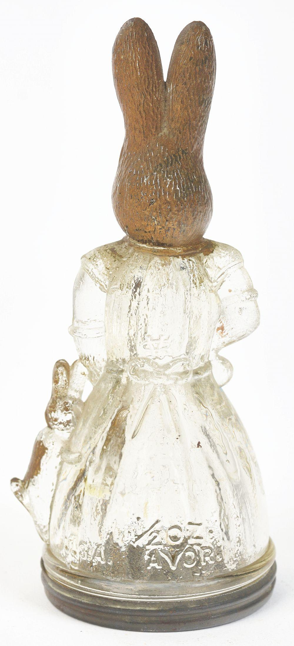 Lot 2579: Rabbit Mother & Daughter Candy Container.
