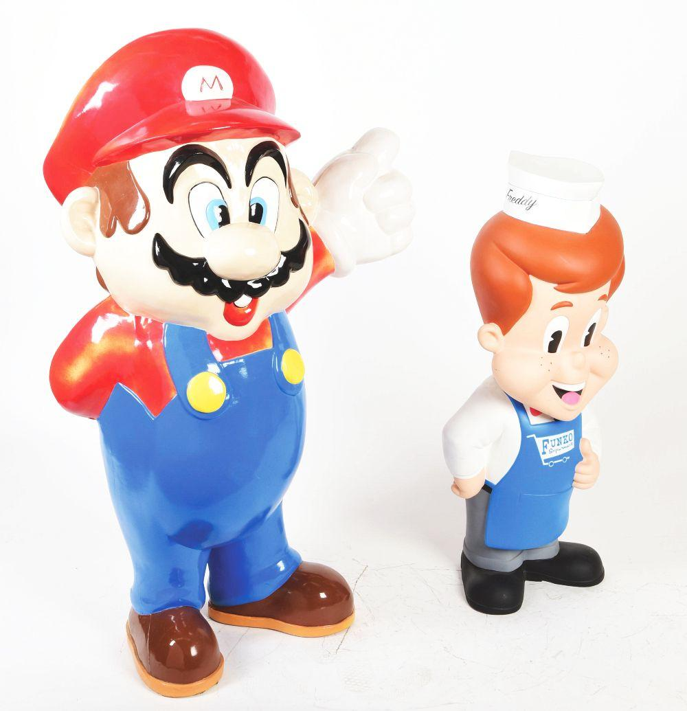 Lot 2595: Lot of 2: Advertising Figures - Mario and Funco.
