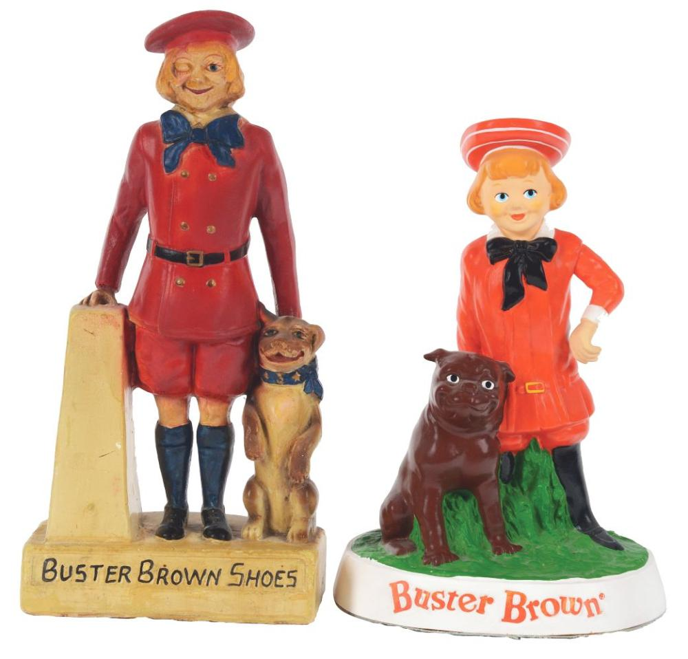 Lot 2596: Lot of 2: Buster Brown Shoes Advertising Figures.