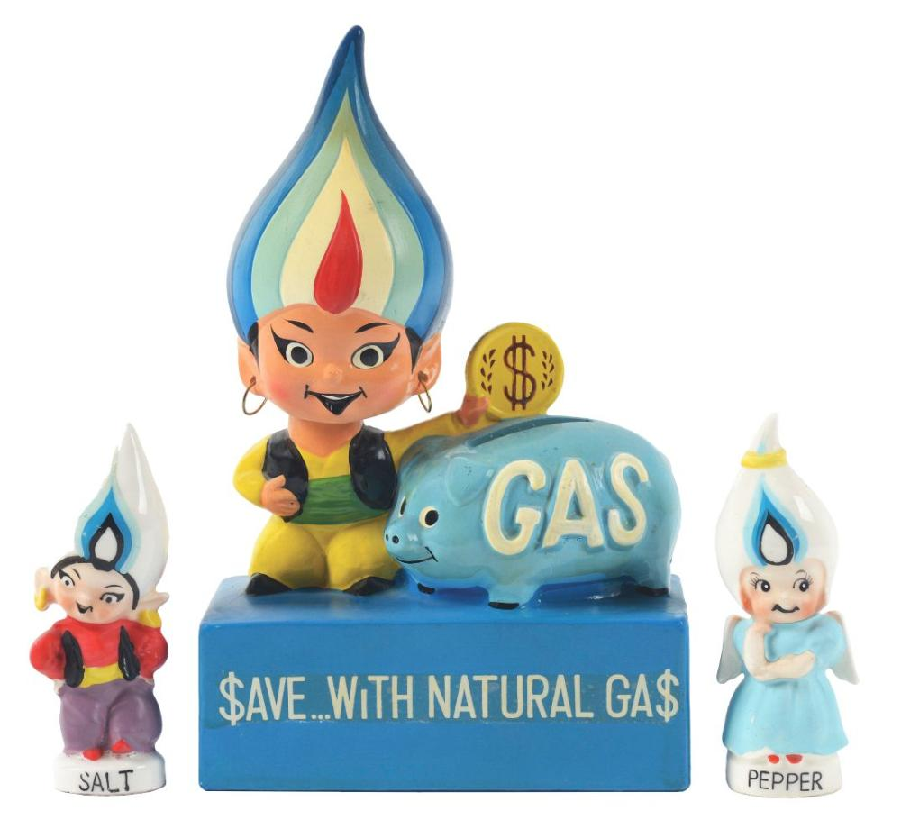 Lot 2598: Lot of 3: Natural Gas Advertising Figures.