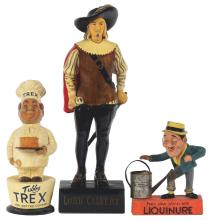 Lot 2621: Lot of 3: Advertising Figures - Liquinure, Lord Calvert, Tubby Trex.