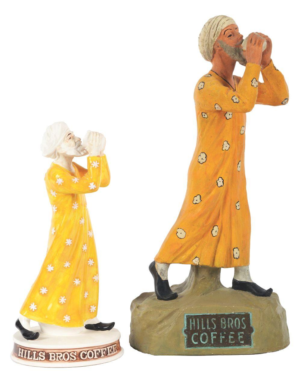 Lot 2613: Lot of 2: Hills Bros Advertising Figures.