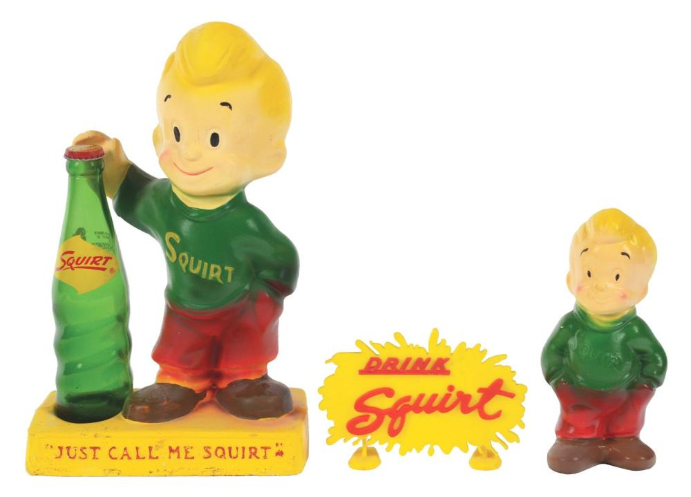Lot 2629: Lot of 2: Squirt Advertising Figures.