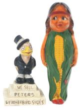 Lot 2638: Lot of 2: Advertising Figures - Weatherbird Shoes, Indian.