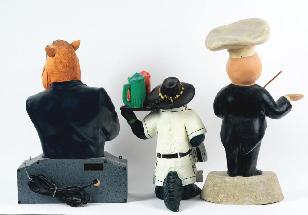 Lot 2628: Lot of 3: Advertising Figures - Magic Chef, Outback Steakhouse, Camel.