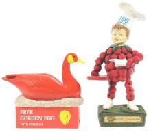 Lot 2641: Lot of 2: Advertising Figures - Flipje, Red Goose Shoes.