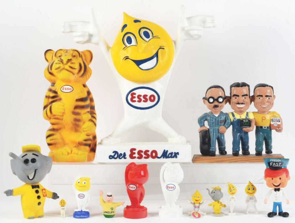 Lot 2639: Lot of 14: Advertising Figures - Esso, Shell & Freddy.