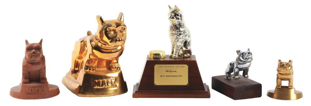 Lot 2632: Lot of 5: Advertising Figures - 4 Mack, Morris Award.