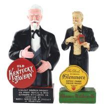 Lot 2672: Lot of 2: Advertising Figures - Glenmore Whiskey, Kentucky Tavern.