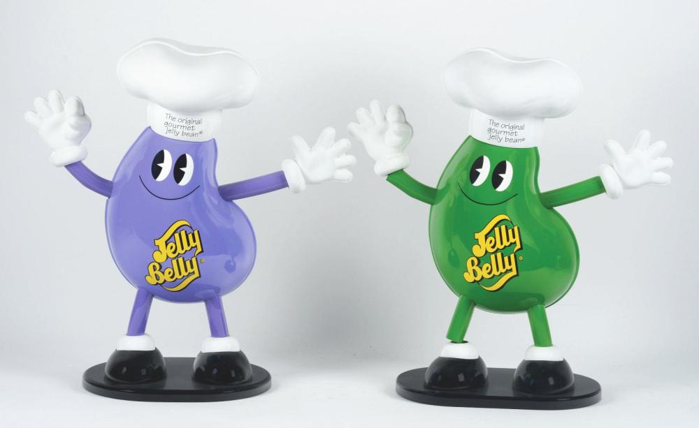 Lot 2669: Lot of 5: Jelly Belly Advertising Figures.