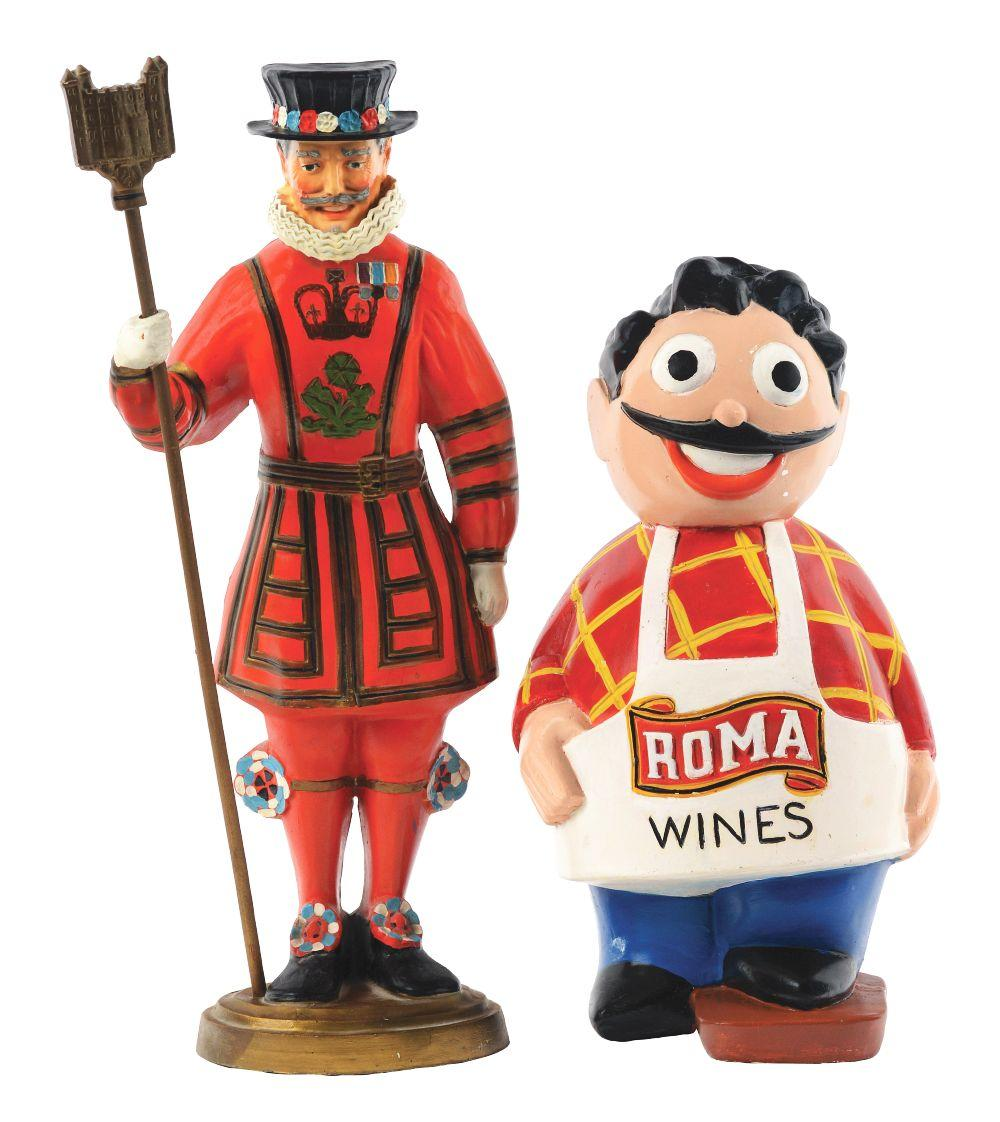 Lot 2674: Lot of 2: Advertising Figures - Roma, King.