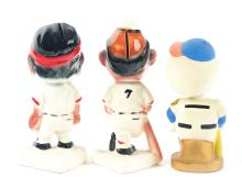 Lot 2678: Lot of 3: Advertising Figures - Braves, Pirates, Mets.