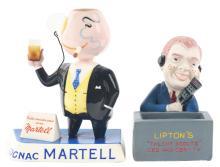 Lot 2681: Lot of 2: Advertising Figures - Lipton's, Martell.